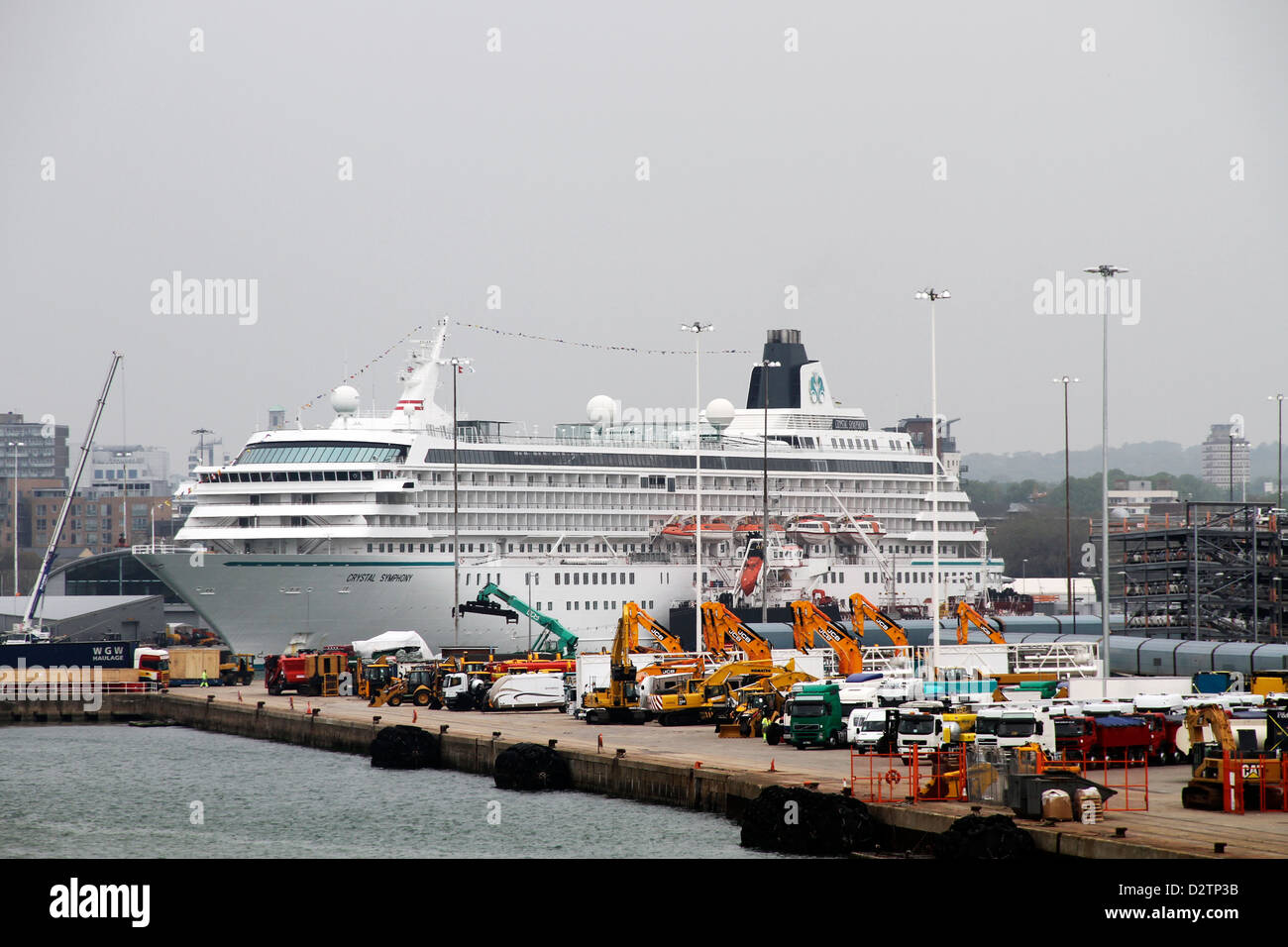 Crystal Symphony  cruise liner docked at Southampton port - Stock Image