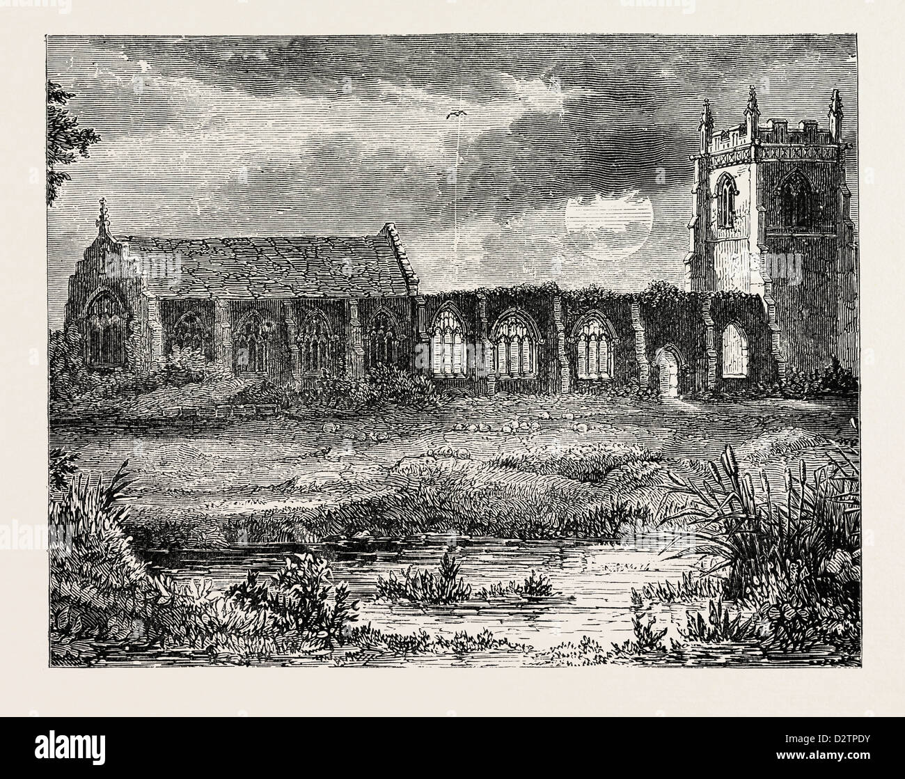 CHURCH OF THE BATTLEFIELD SHREWSBURY. - Stock Image