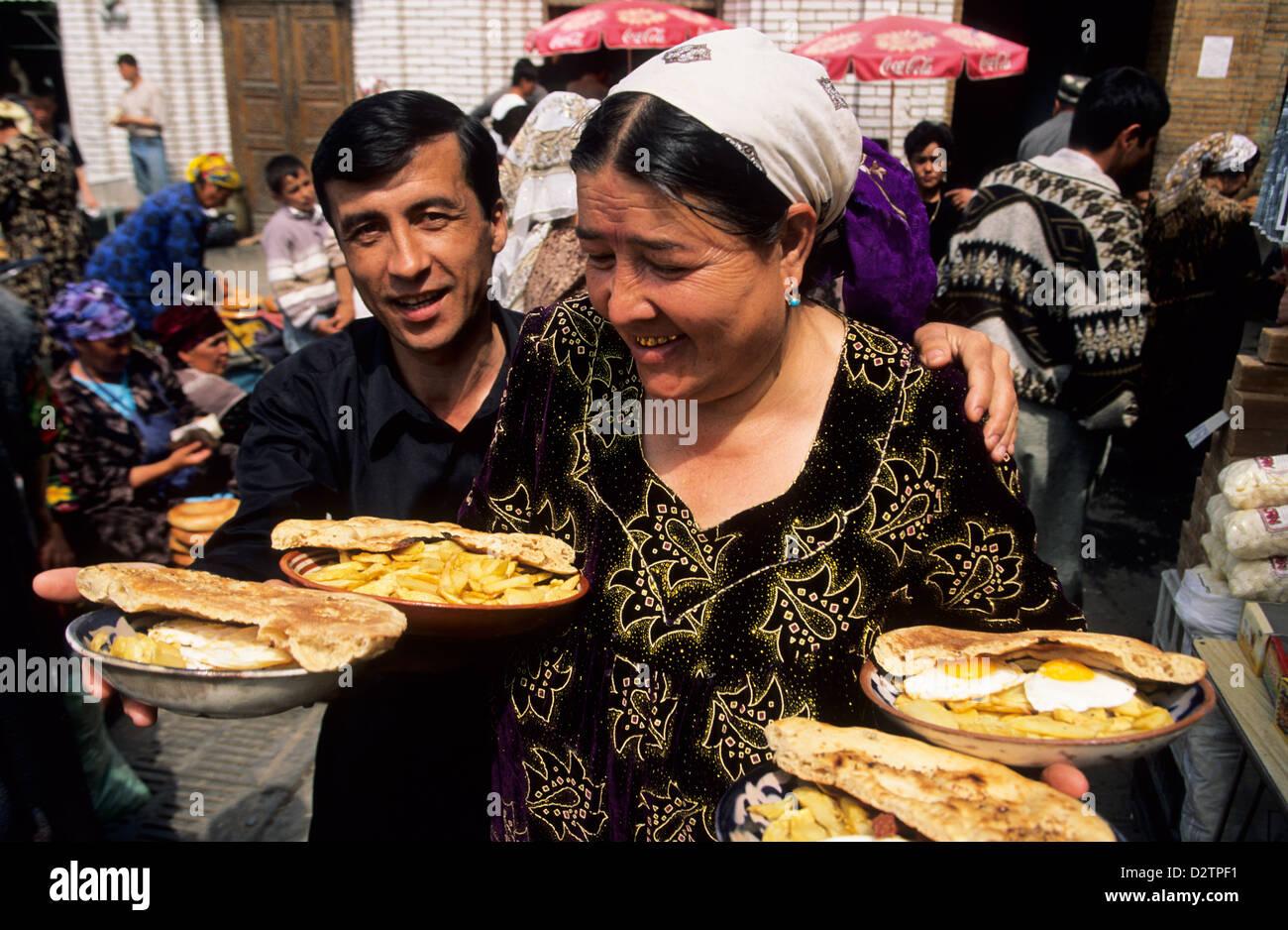 Bazaar of Samarkand. Uzbekistan - Stock Image