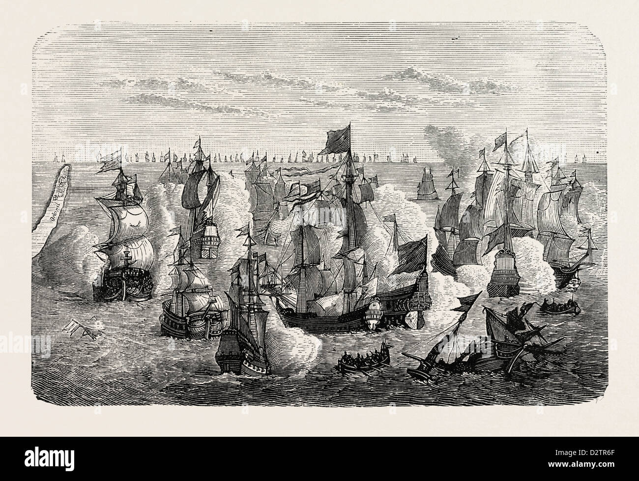 WARSHIPS OF THE COMMENCEMENT OF THE 15TH CENTURY. - Stock Image