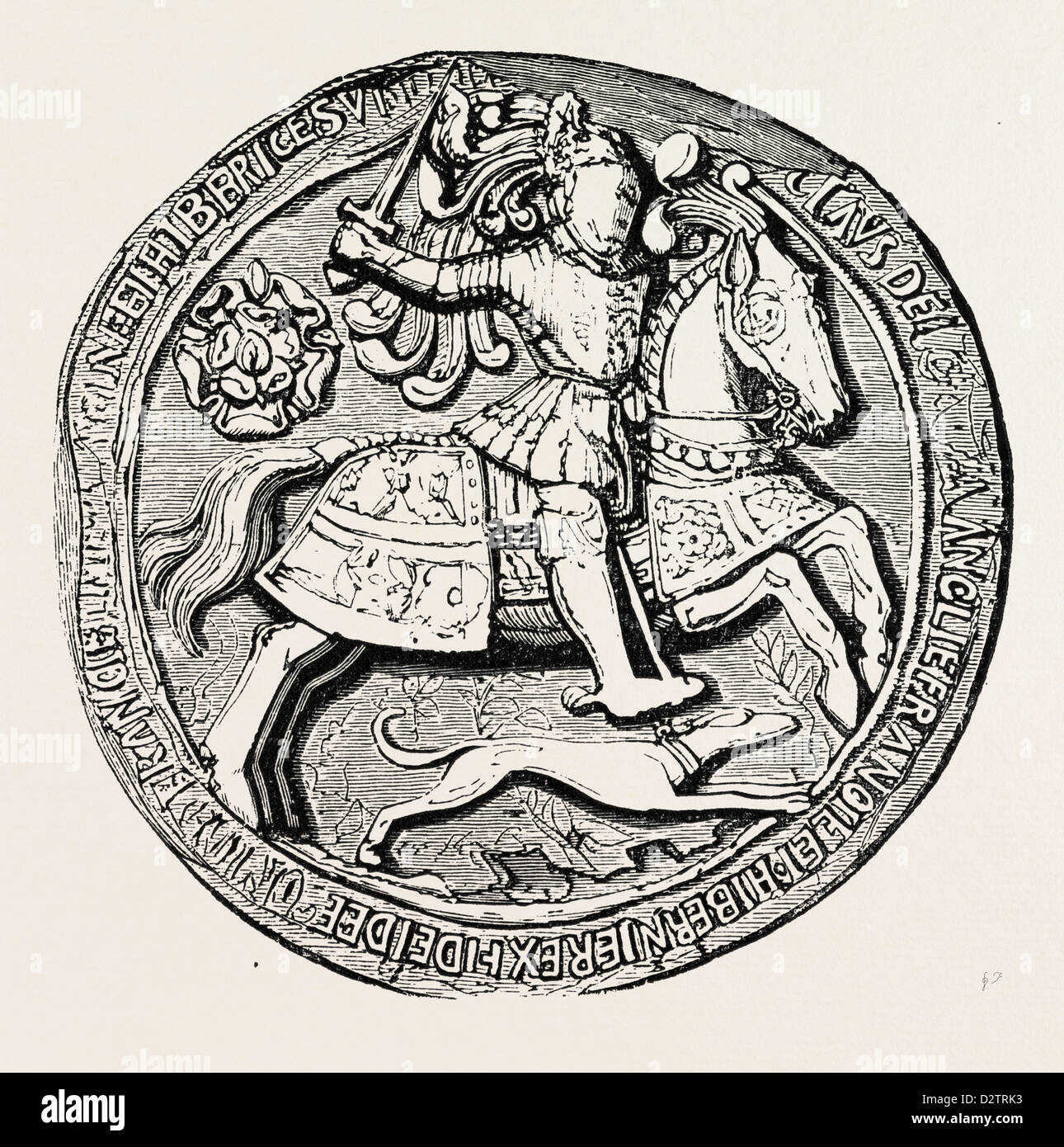 GREAT SEAL OF HENRY VIII OBVERSE - Stock Image
