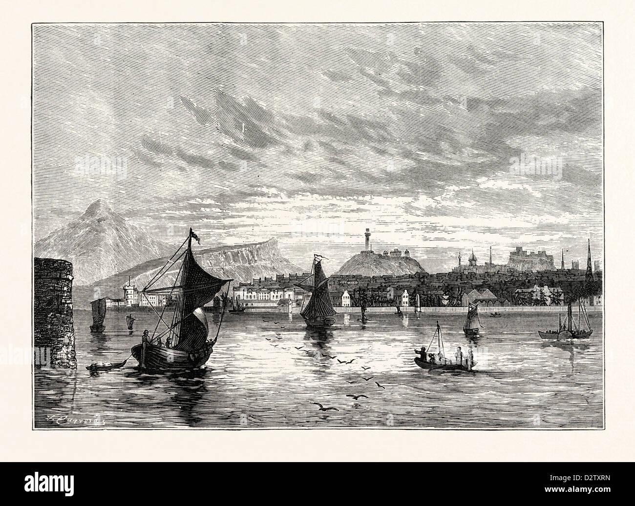 EDINBURGH: LEITH ROADS 1824 - Stock Image