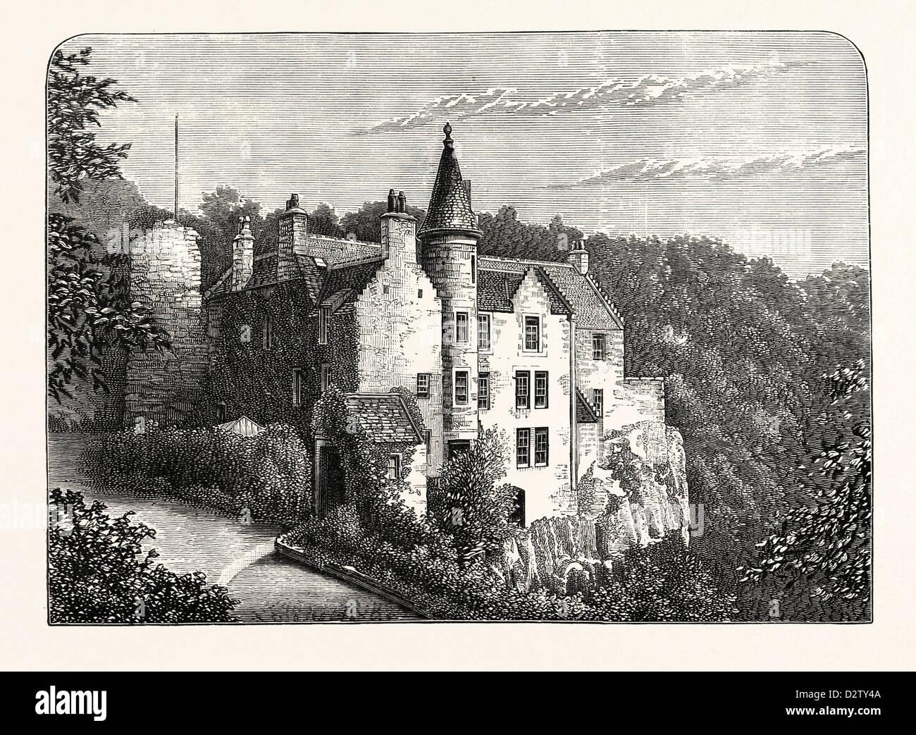 EDINBURGH: HAWTHORNDEN 1883 - Stock Image