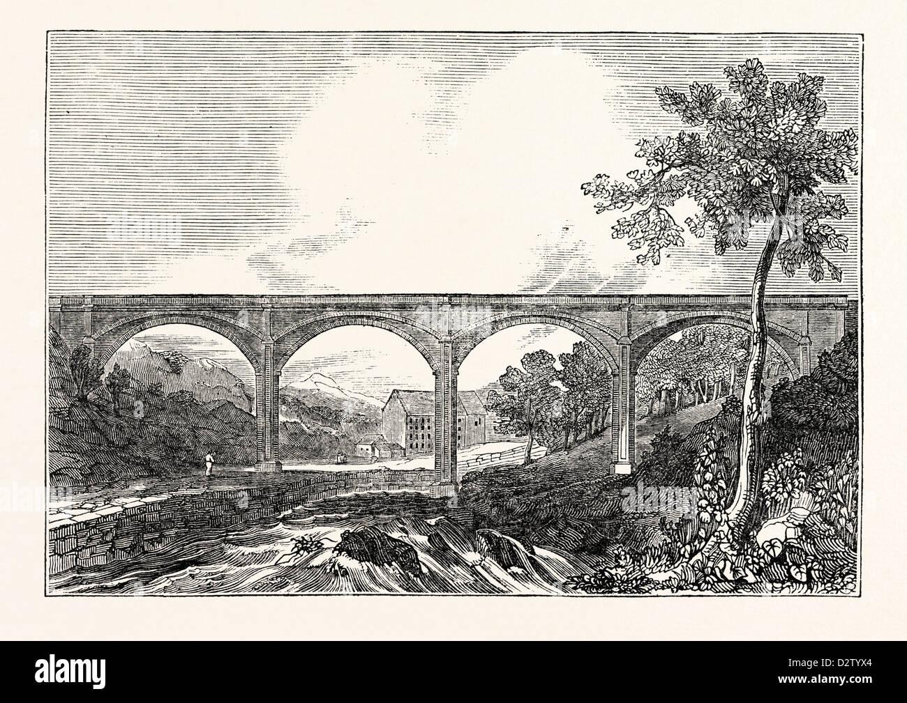 View of Dean Bridge Edinburgh - Stock Image
