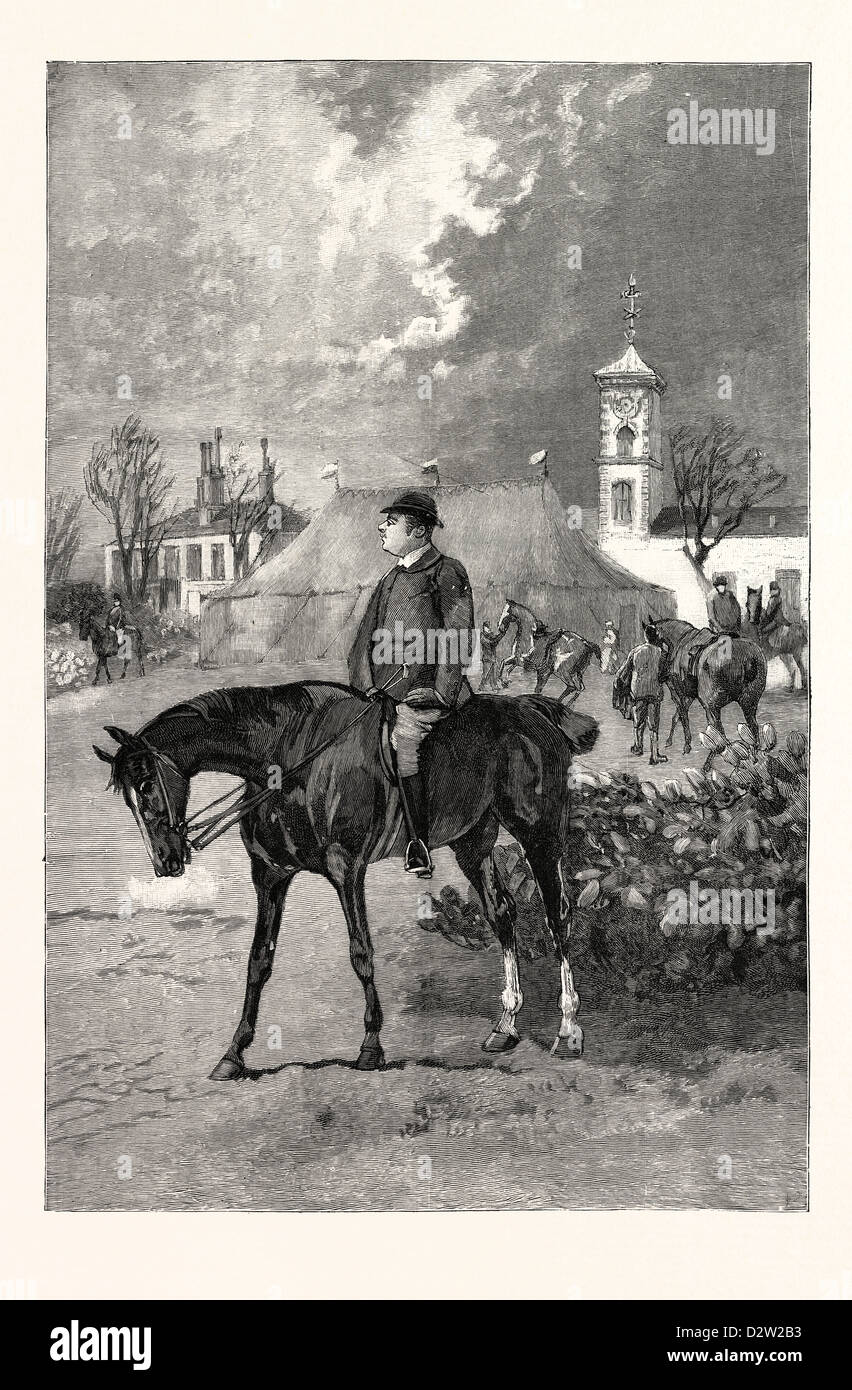 NEWMARKET AND ITS SURROUNDINGS: THE SQUIRE (MR. ABINGTON) AT BEDFORD LODGE - Stock Image