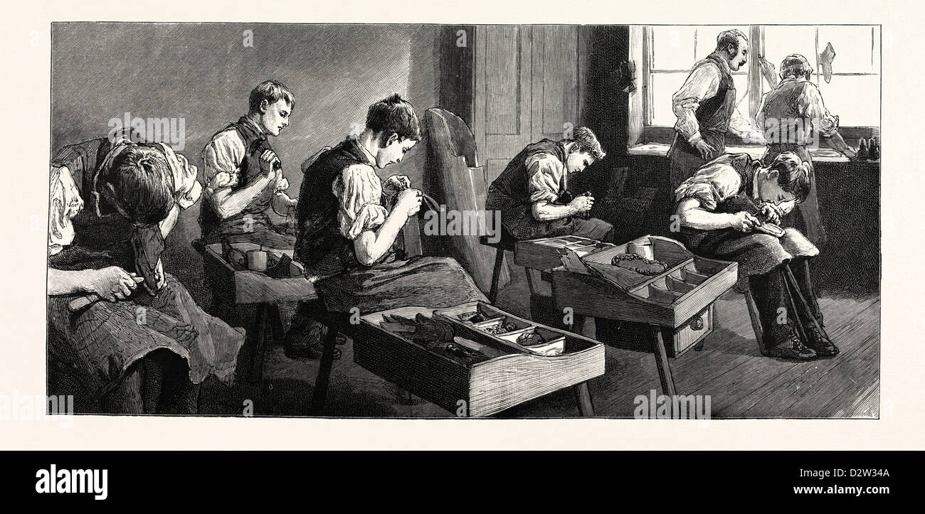 THE ANNIVERSARY OF THE LITTLE BOYS' HOMES AT FARNINGHAM AND SWANLEY THE HOME AT FARNINGHAM: THE SHOEMAKERS' - Stock Image