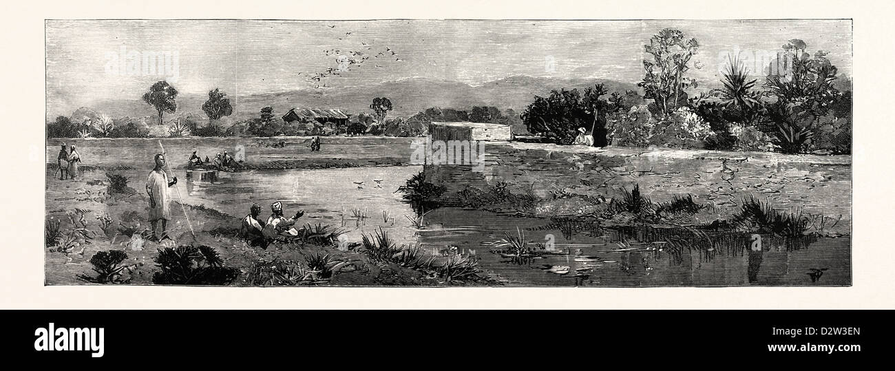 THE DISASTER TO BRITISH TROOPS IN MANIPUR NORTHERN INDIA THE SCENE OF THE FIGHTING - Stock Image