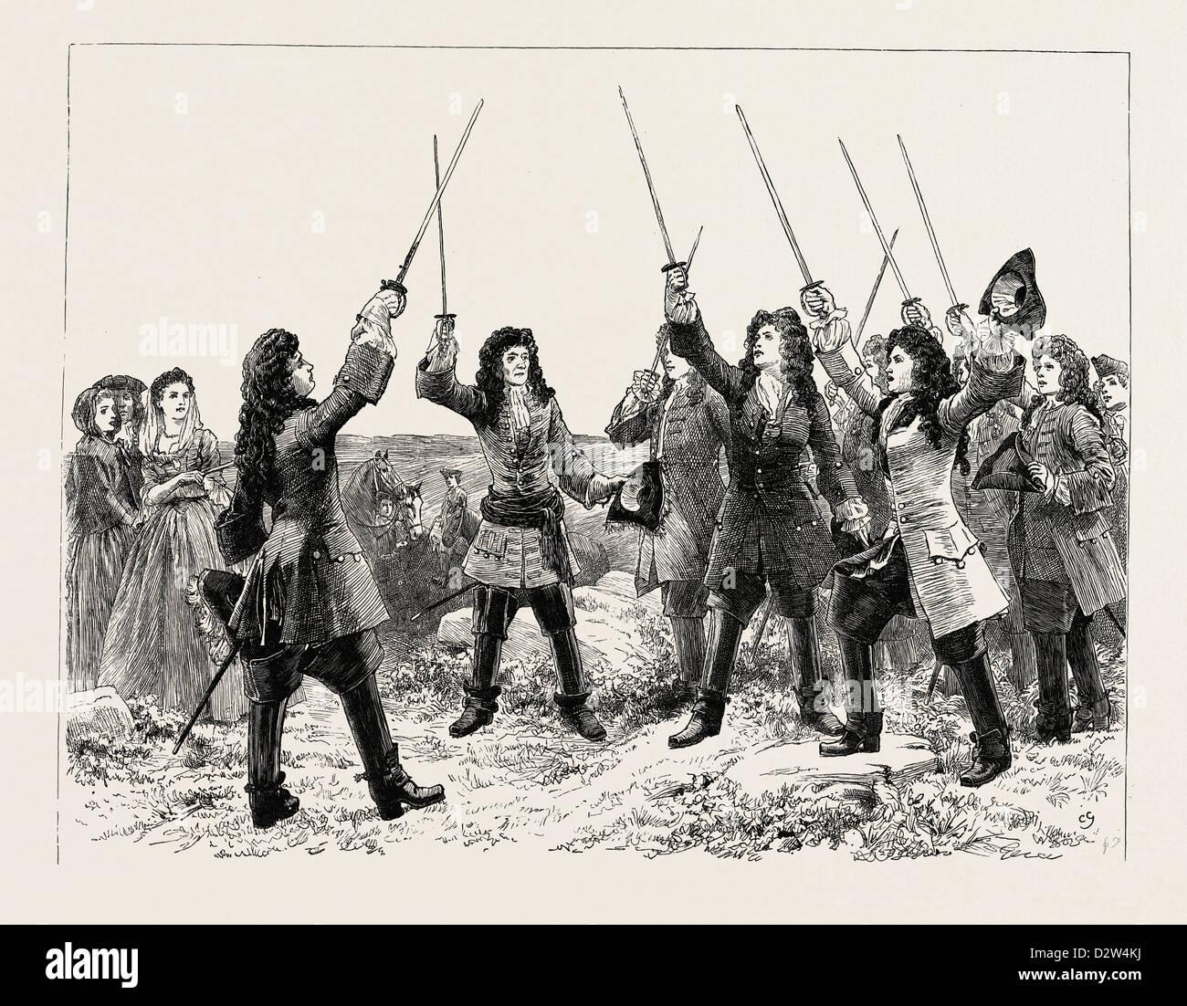 DOROTHY FORSTER: God save King James! - Stock Image