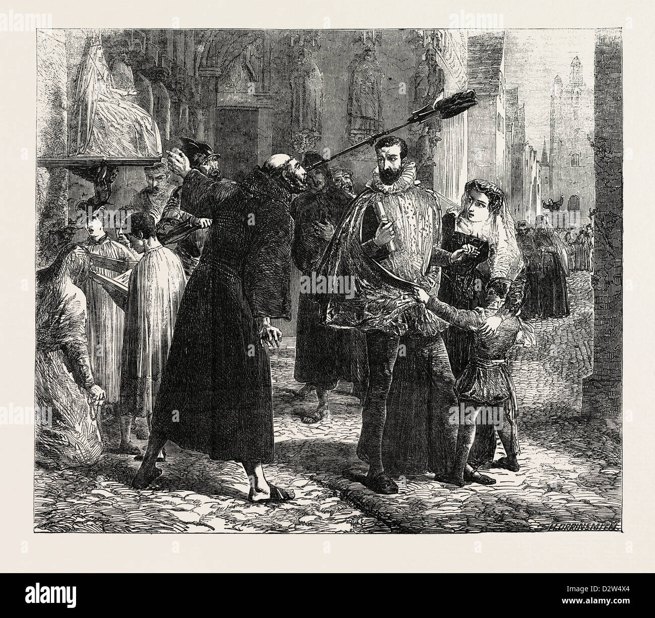 TIME OF THE PERSECUTION OF THE CHRISTIAN REFORMERS IN PARIS IN - Stock Image