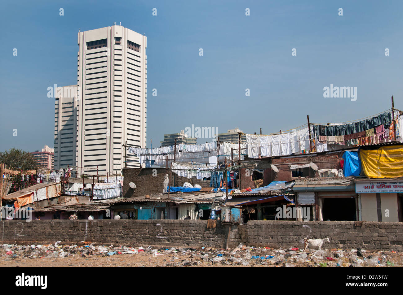 Mumbai ( Bombay ) India Slum World Trade Center Colaba ...