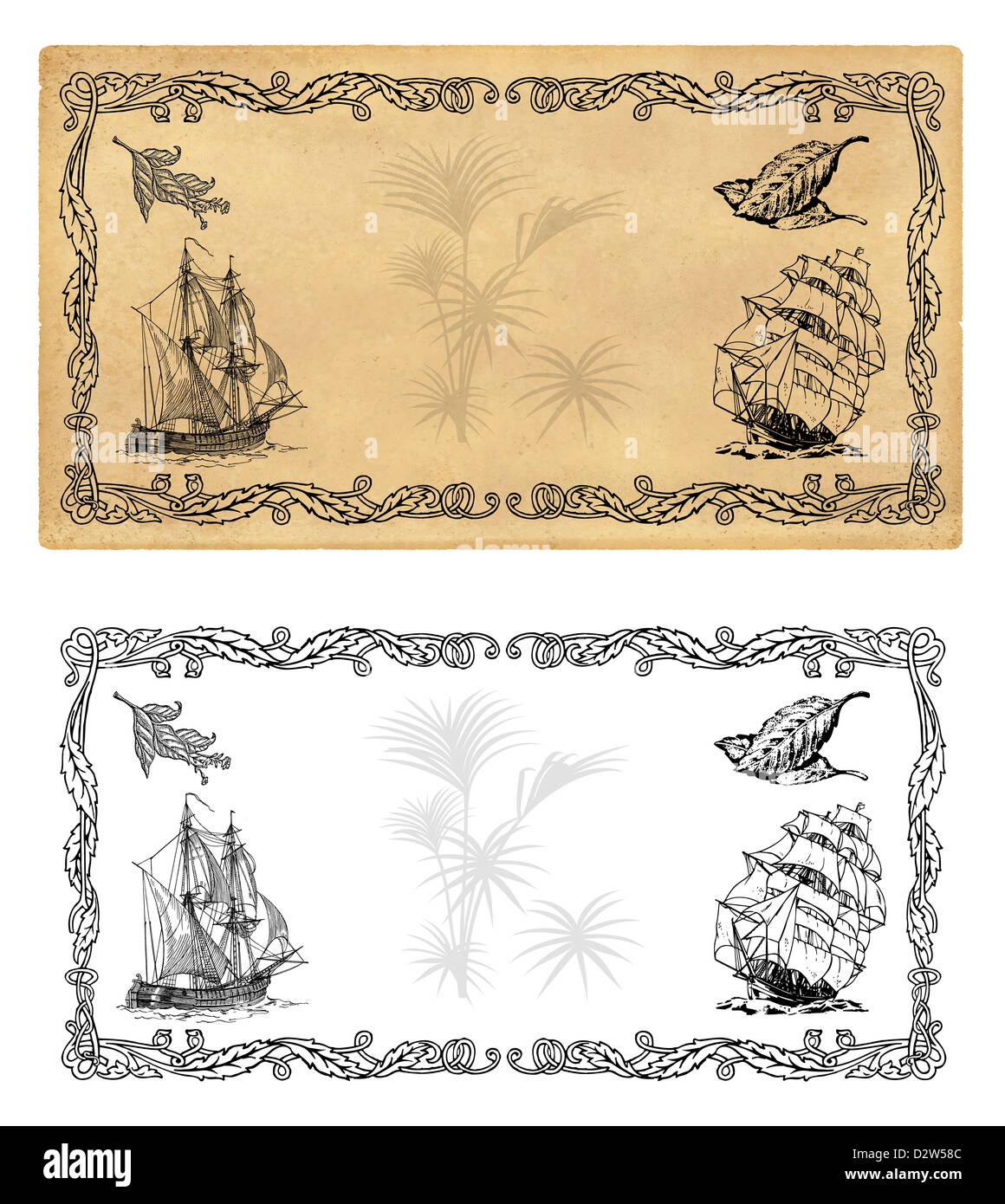 illustration template for spice labels or tea stock photo 53413372