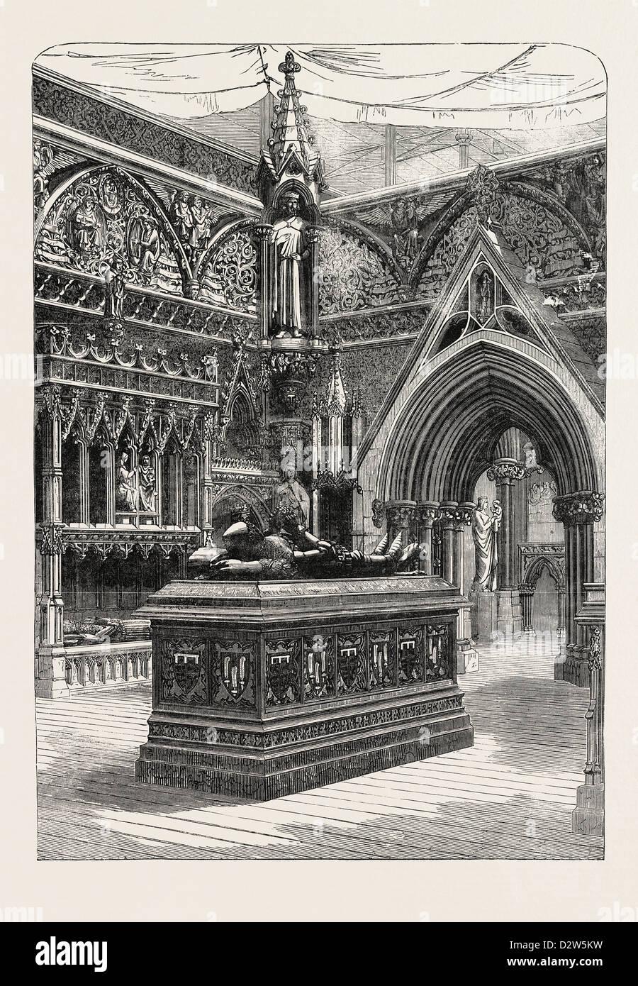 THE ENGLISH MEDIAEVAL COURT AT THE CRYSTAL PALACE SYDENHAM 1854 UK - Stock Image