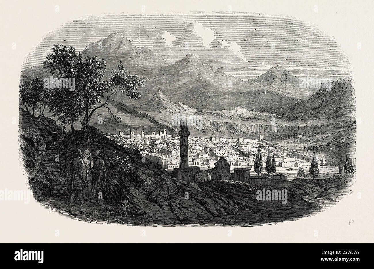 THE CITY OF KARS IN ASIATIC TURKEY 1854 - Stock Image