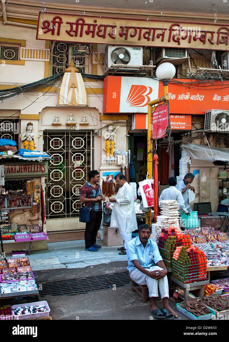 Mumbai ( Bombay ) India near Crawford Market - Stock Image