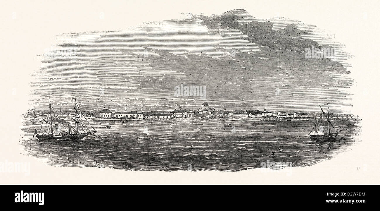 EUPATORIA LANDING OF THE CRIMEAN EXPEDITION 1854 - Stock Image