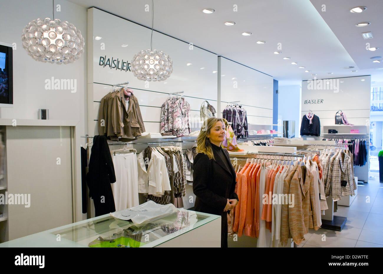 783488e662 Berlin, Germany, sales girl in Basler Fashion Store in Steglitz - Stock  Image