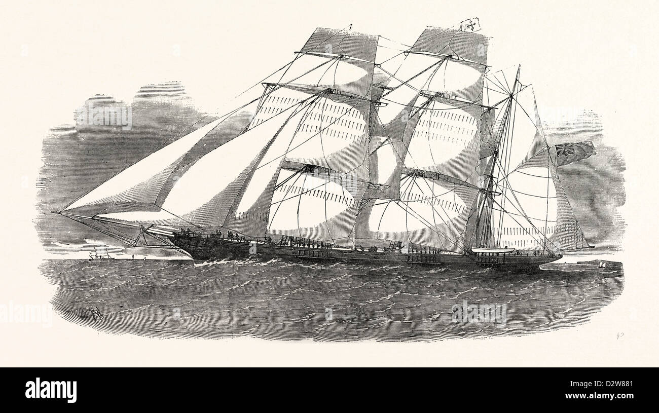 THE SUNDERLAND CLIPPER BARQUE FLYING DRAGON 1854 - Stock Image