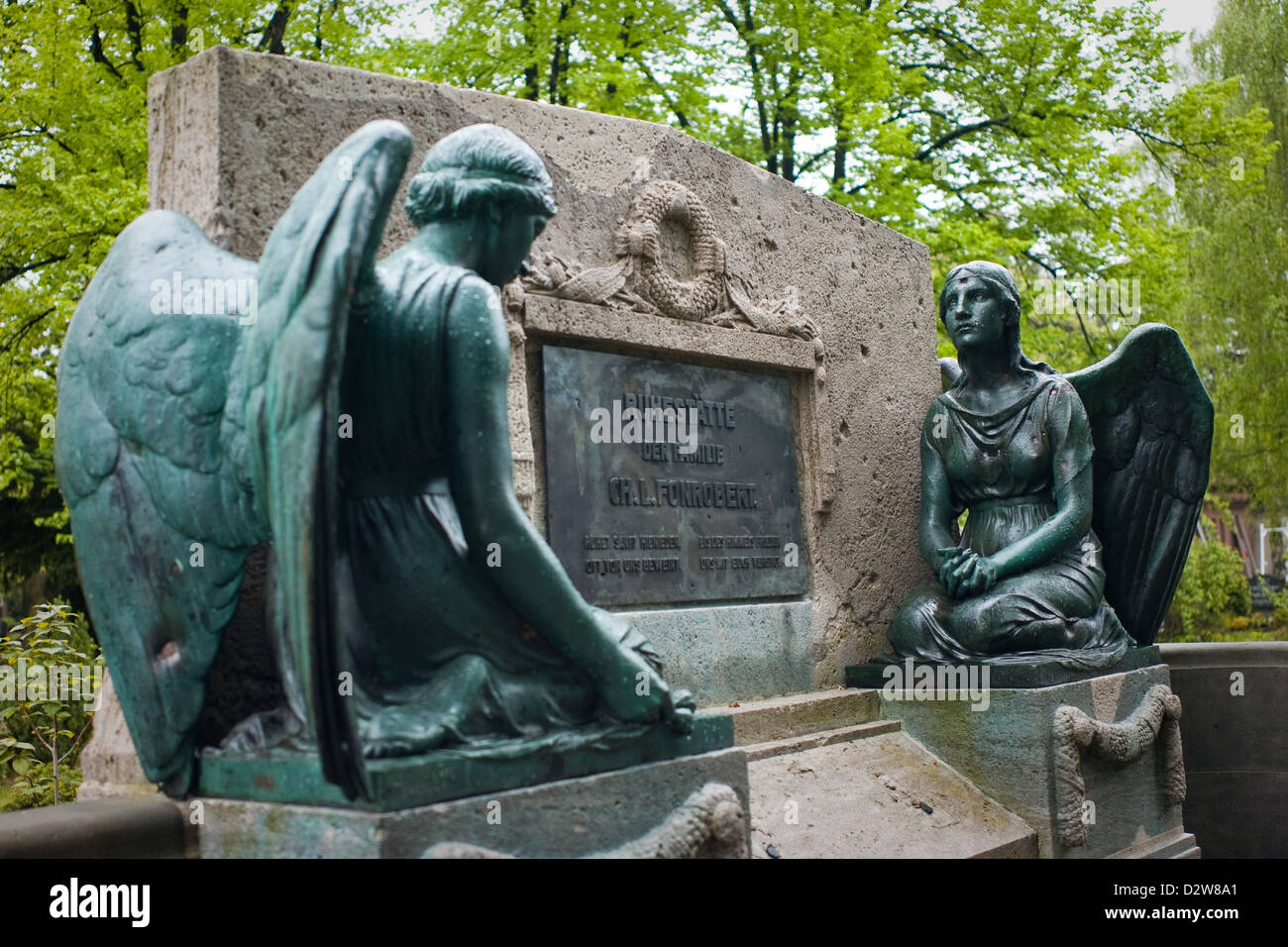 Berlin, Germany, the tomb in the cemetery of the French-Ref. Community - Stock Image
