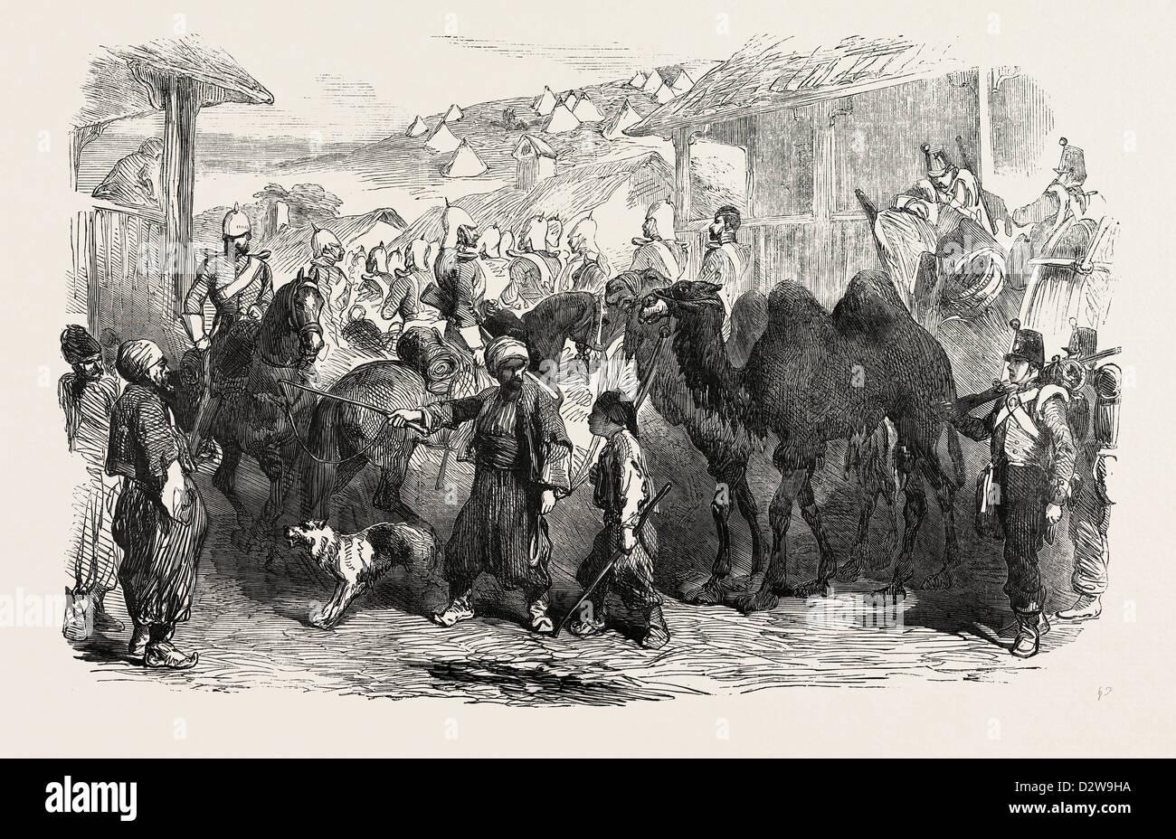 THE CRIMEAN WAR: STREET IN BALACLAVA 1854 - Stock Image