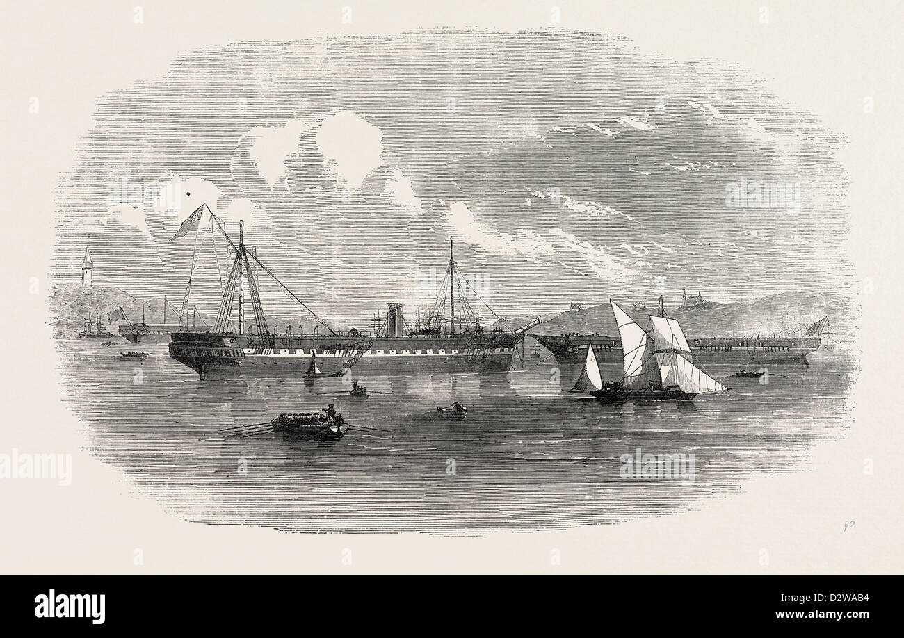 THE STORM IN THE CRIMEA: WRECKS OF THE CADUCEUS AND THE STEAMER MELBOURNE. 1854 - Stock Image