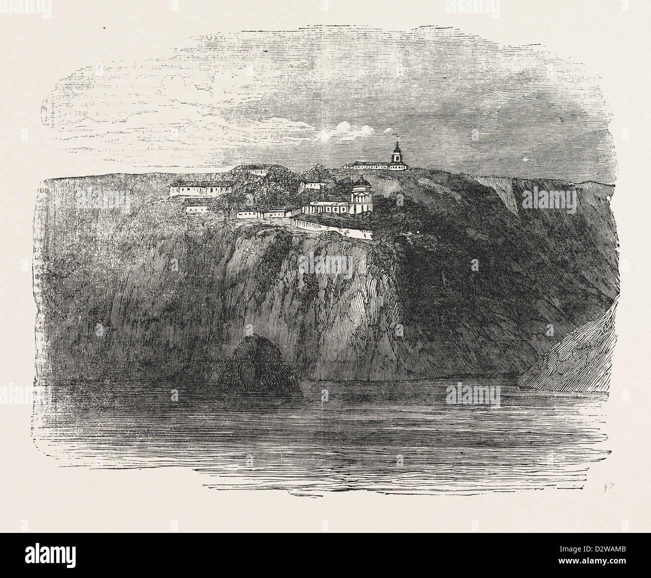 MONASTERY OF ST. GEORGE NEAR BALACLAVA 1854 - Stock Image