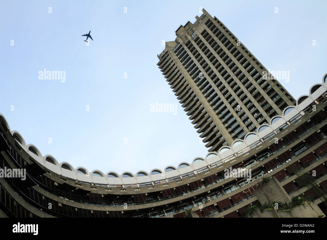Residential apartments, The Barbican, London - Stock Image