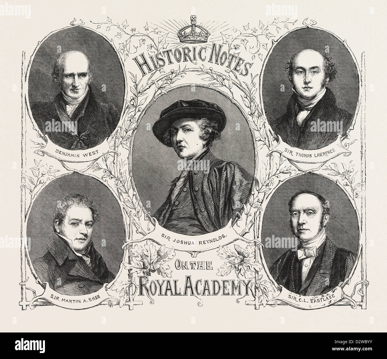 PORTRAITS OF THE PRESIDENTS OF THE ROYAL ACADEMY. - Stock Image