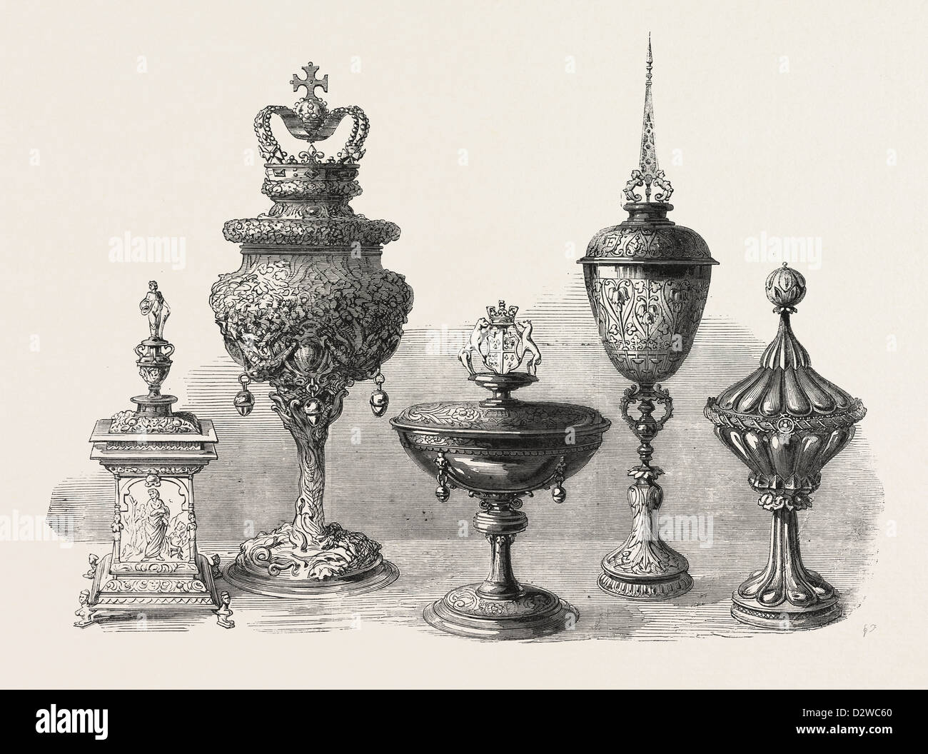 OBJECTS OF ART AND ANTIQUITY EXHIBITED AT IRONMONGER'S HALL - Stock Image