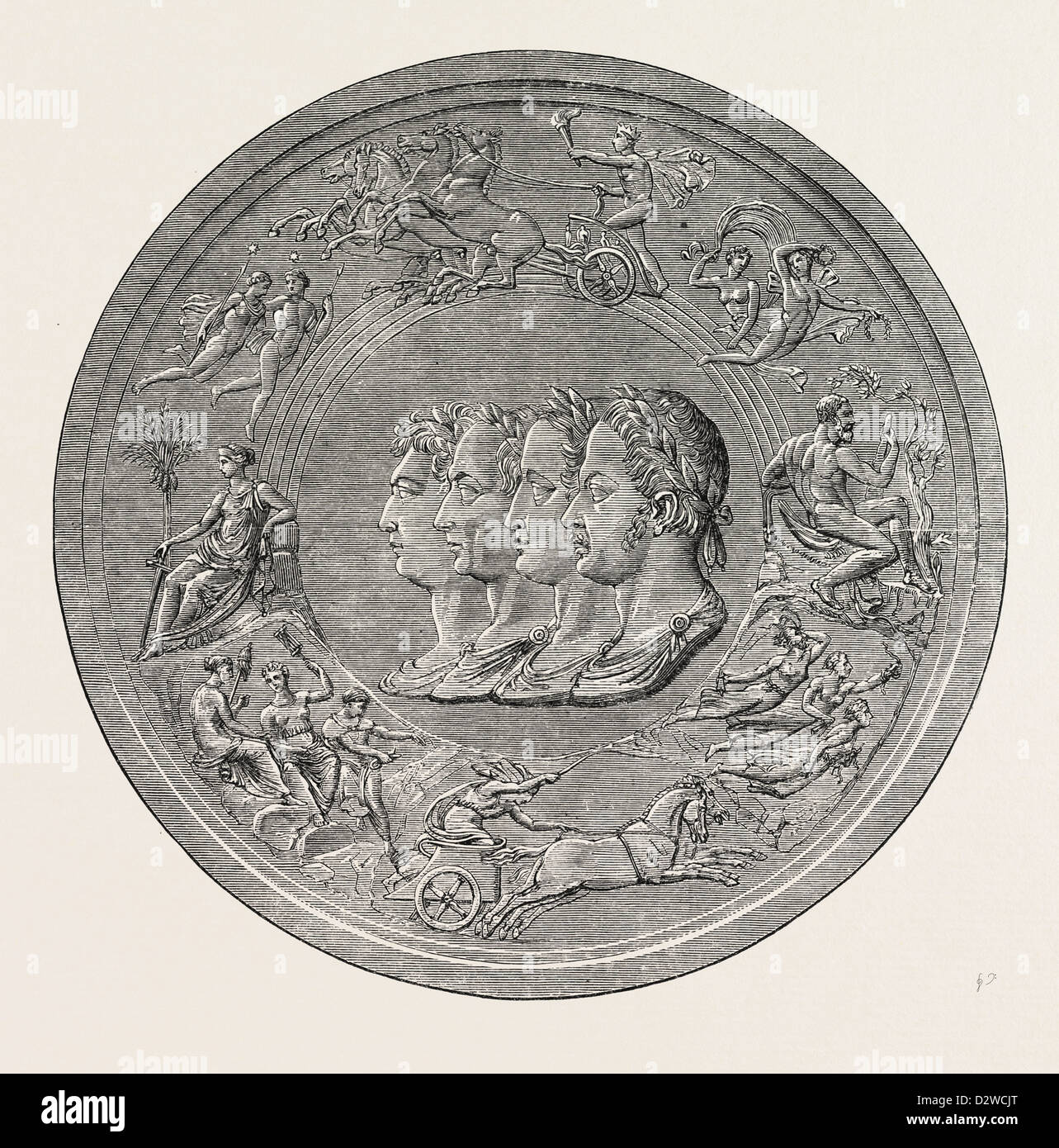 PISTRUCCI'S GREAT WATERLOO MEDAL: OBVERSE - Stock Image