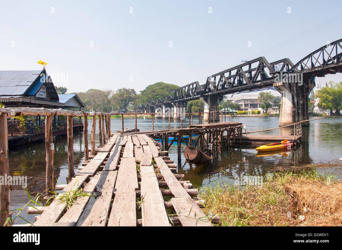 The bridge over river Kwai - Stock Image