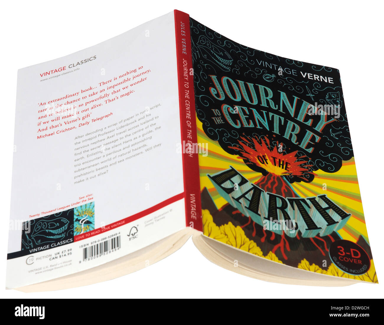 Journey to the Centre of the Earth by Jules Verne - Stock Image