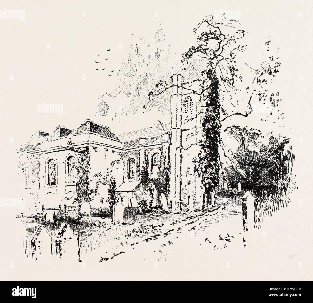 HANDEL'S CHURCH NEAR EDGWARE - Stock Image
