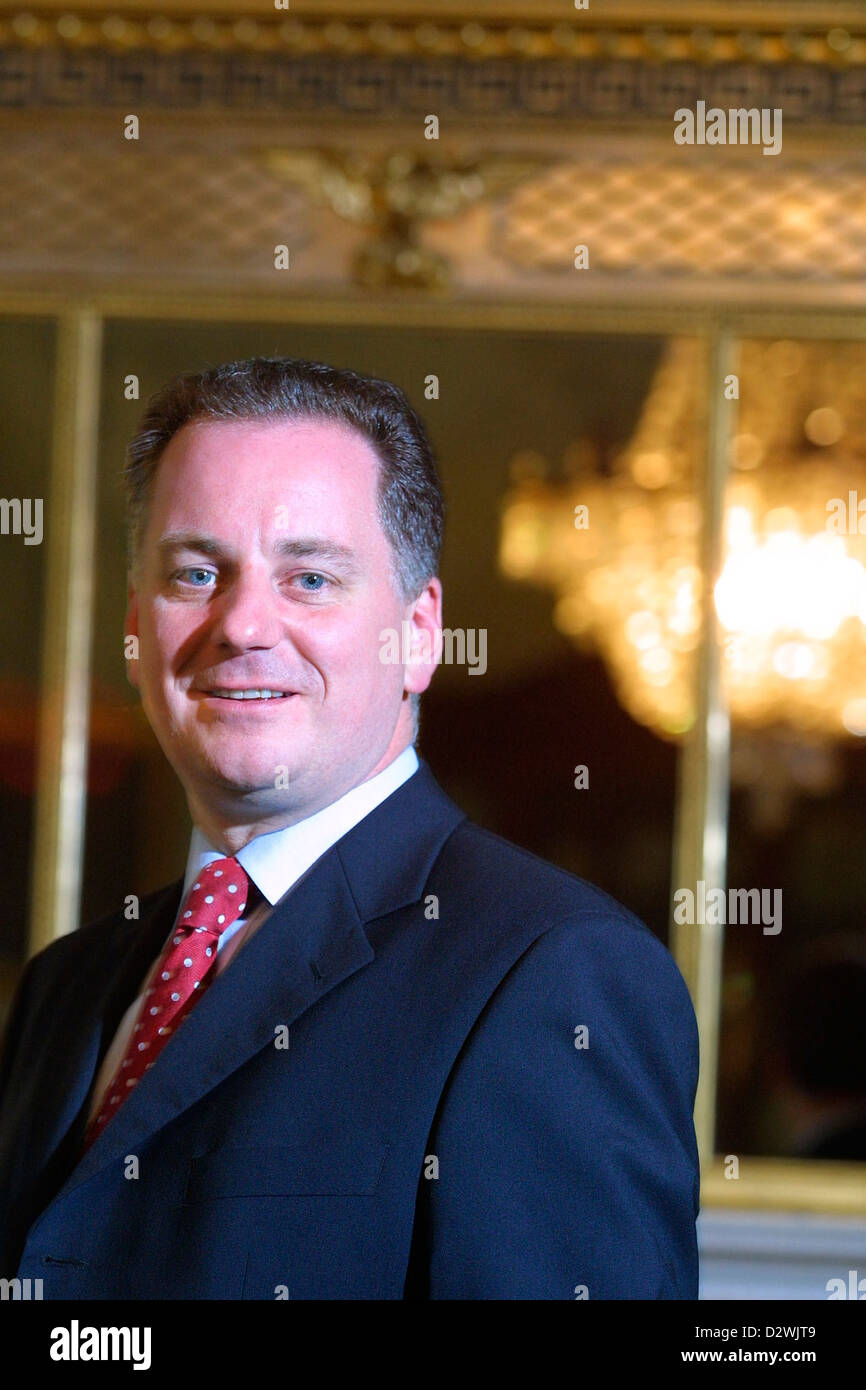 Jack McConnell, former First Minister of Scotland, and Labour MSP photographed in Bute House while First Minister. - Stock Image