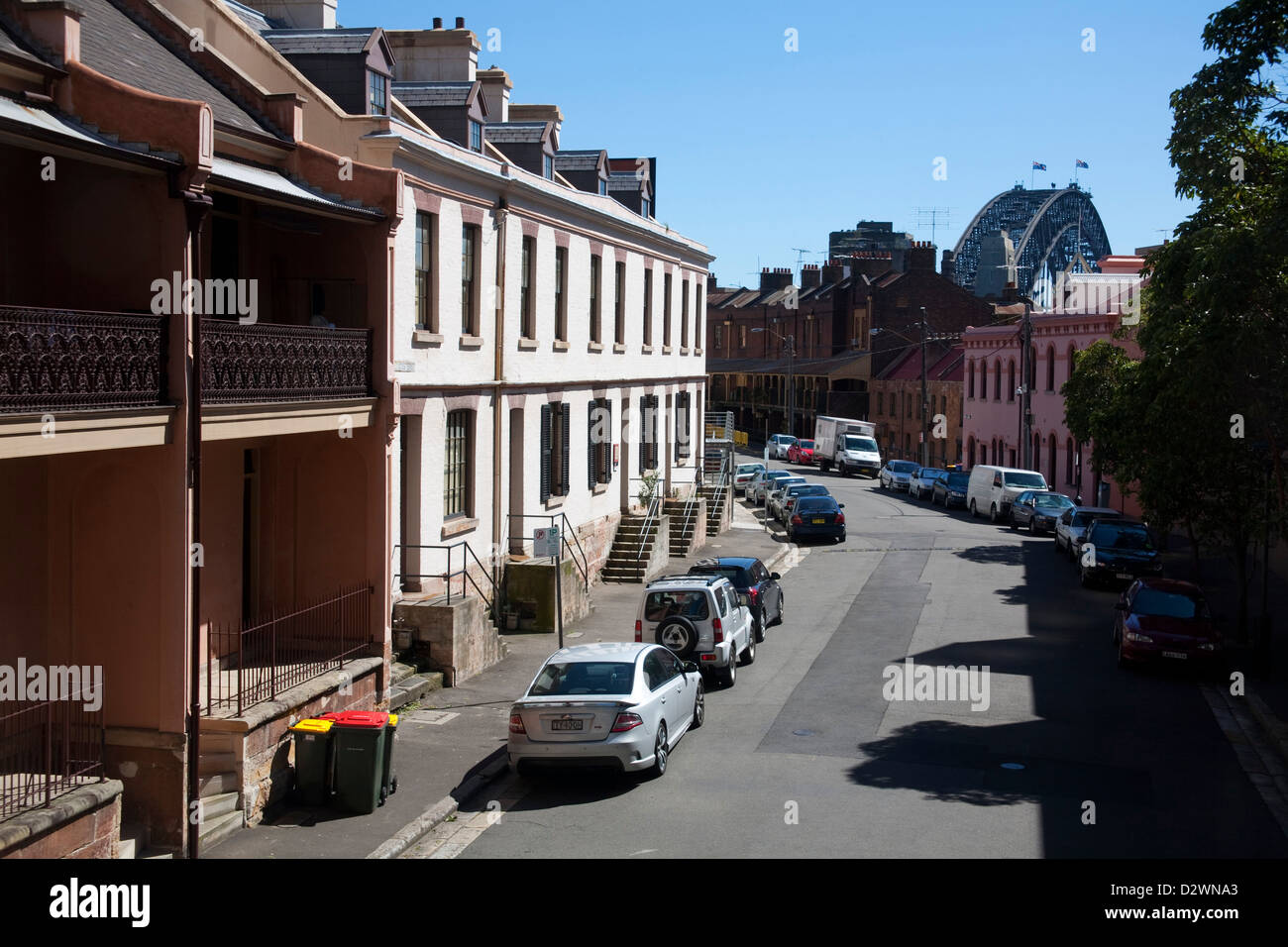 A Time Capsule at historic Gloucester Street The Rocks Sydney Australia Stock Photo