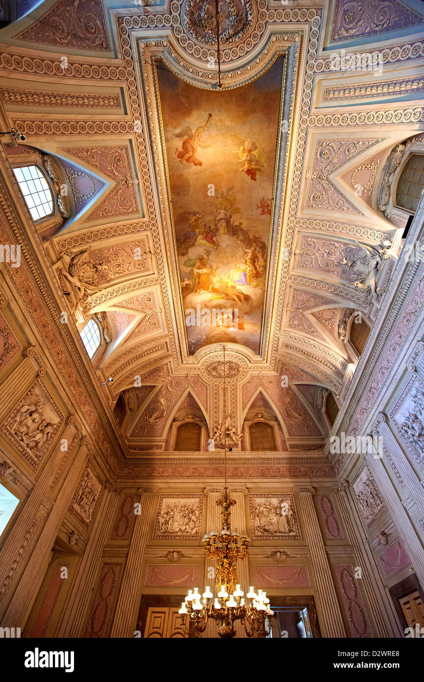 'The Room of the Bodyguards' Royal Palace of Caserta Italy - Stock Image