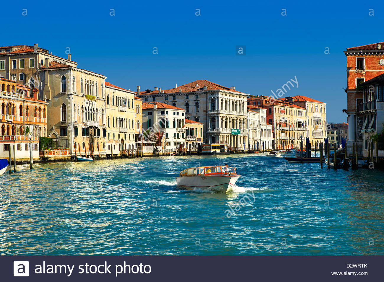 Palaces on the Grand Canal Venice - Stock Image