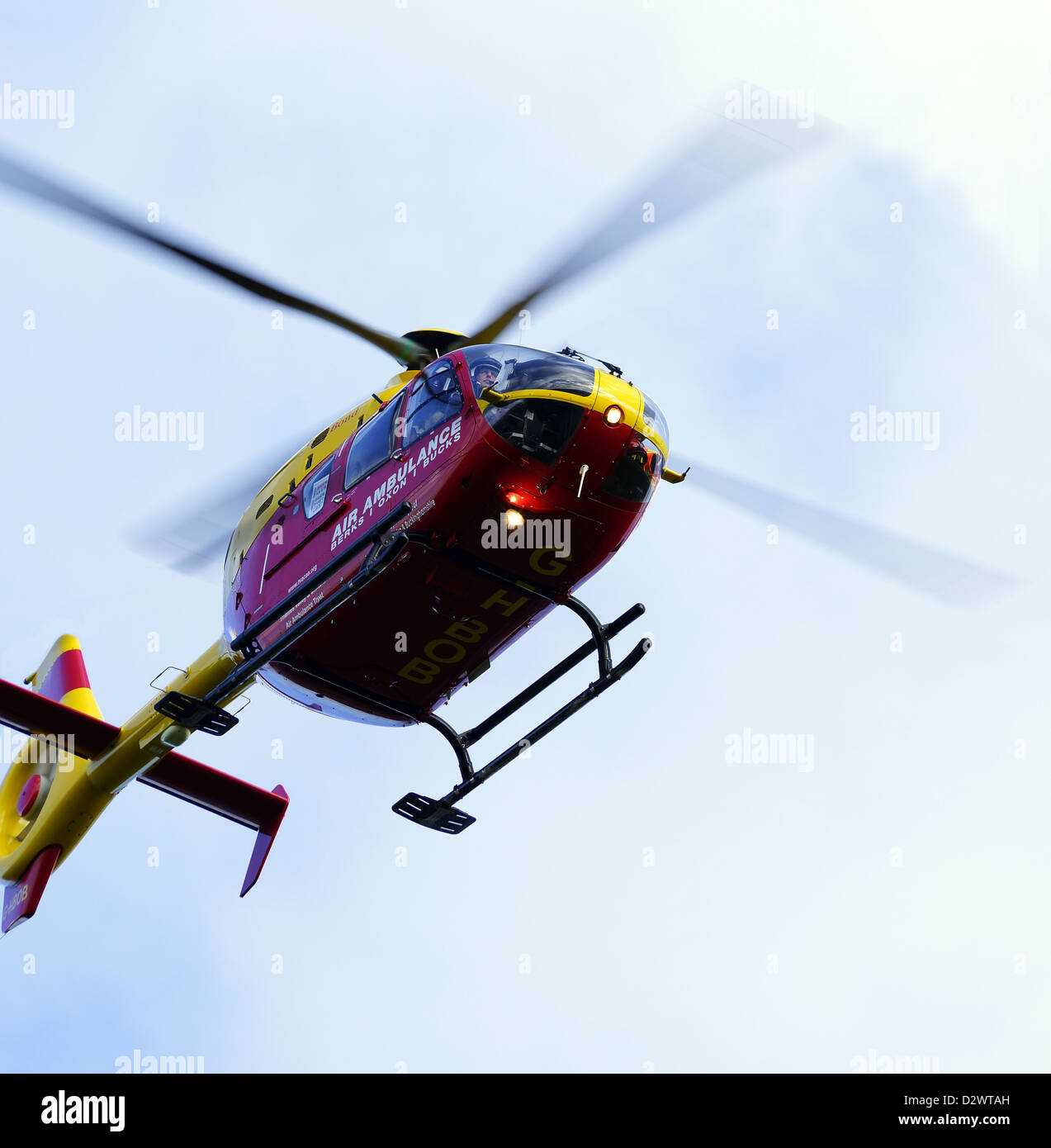Berkshire / Oxfordshire / Buckinghamshire Air Ambulance at Liss, Hampshire - Stock Image