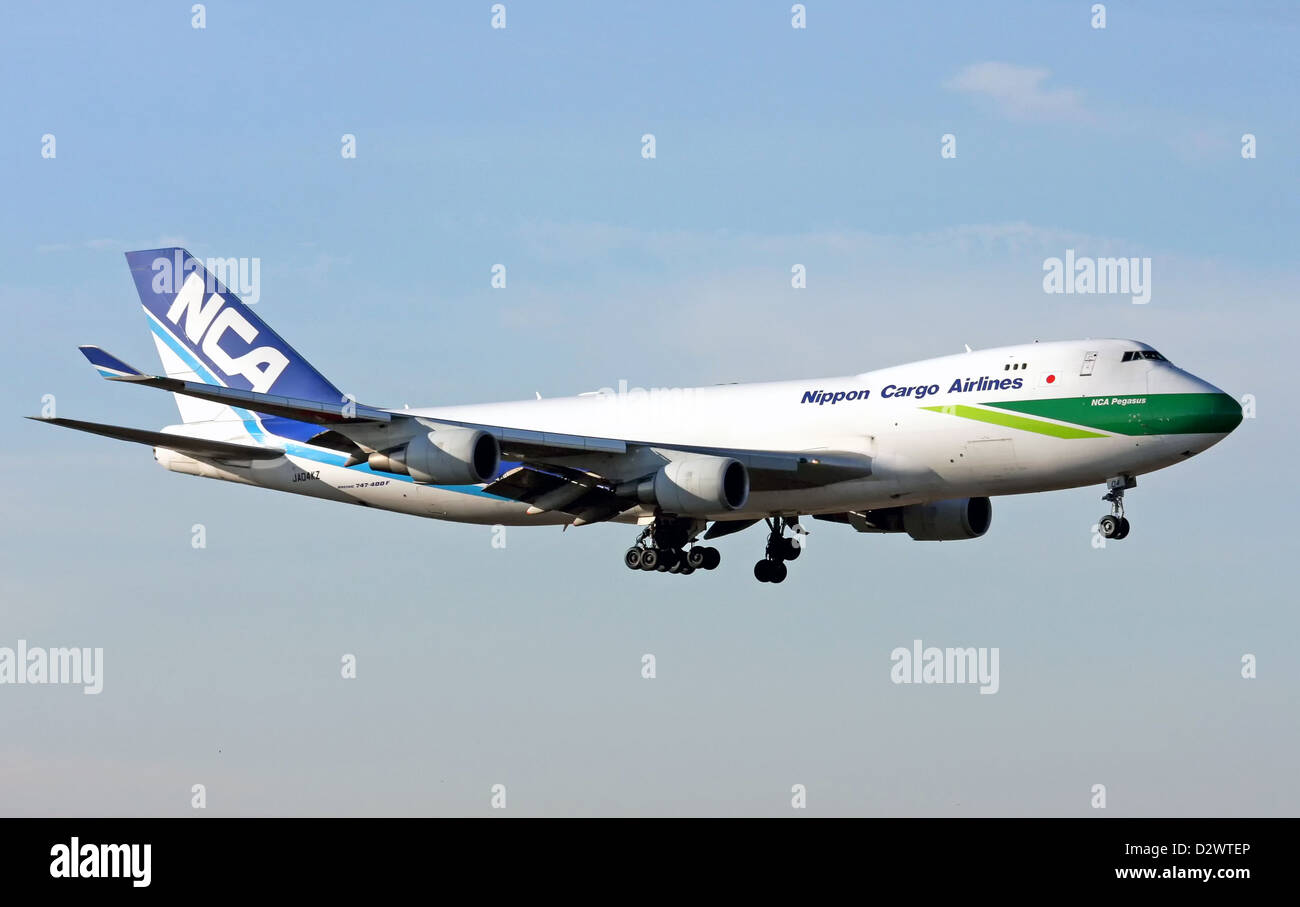 Nippon Cargo Airlines, Boeing 747-400F - Stock Image