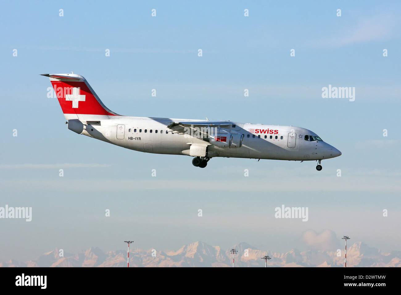 Swiss International Air Lines, British Aerospace Avro 146-RJ100 - Stock Image