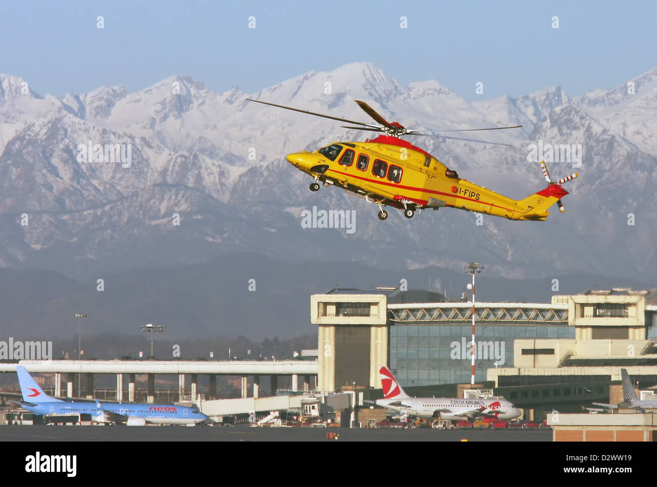 Untitled, Agusta-Westland AW-139 helicopter - Stock Image