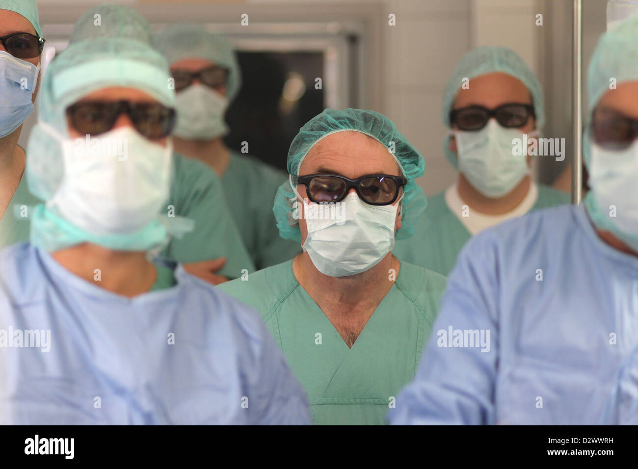 Flensburg, Germany, physicians operate in the 3D process - Stock Image