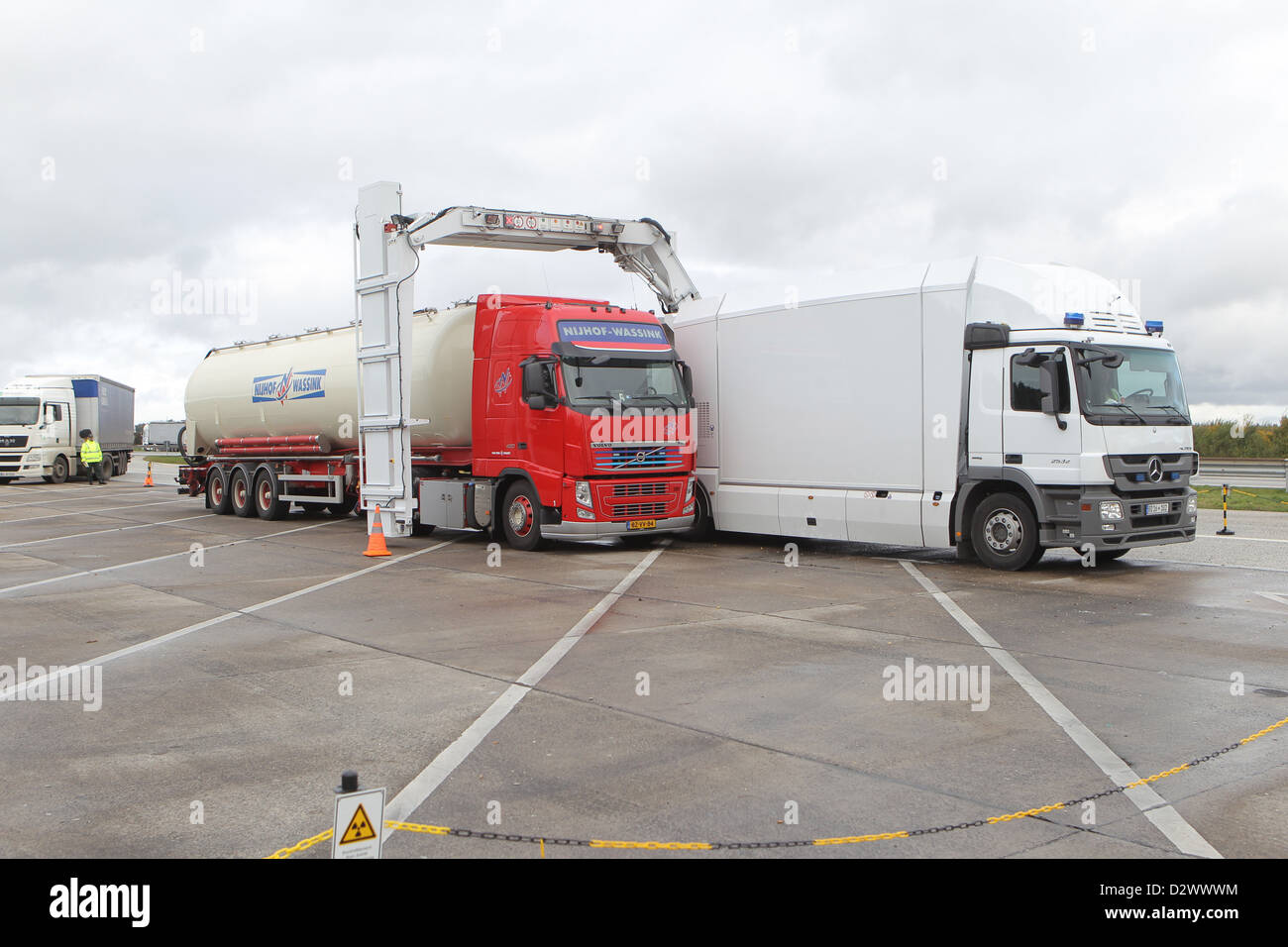Brekendorf, Germany, Full Mobile Roentgenanlage (VMR) of Customs Stock Photo