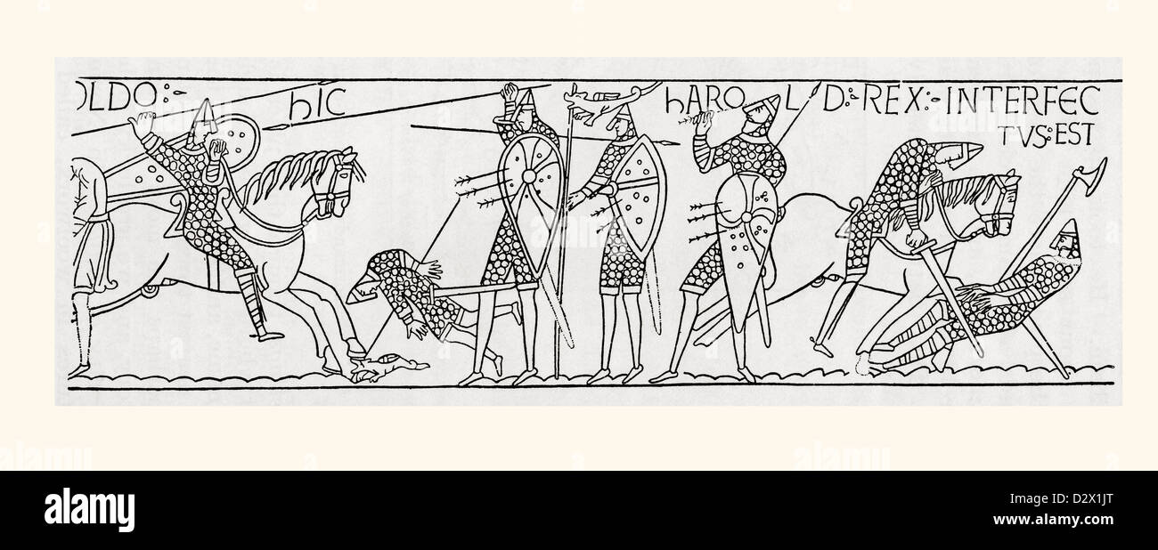 1066 History Historical Archive Archival Stock Photos Battle Story Hastings The Death Of King Harold Ii At