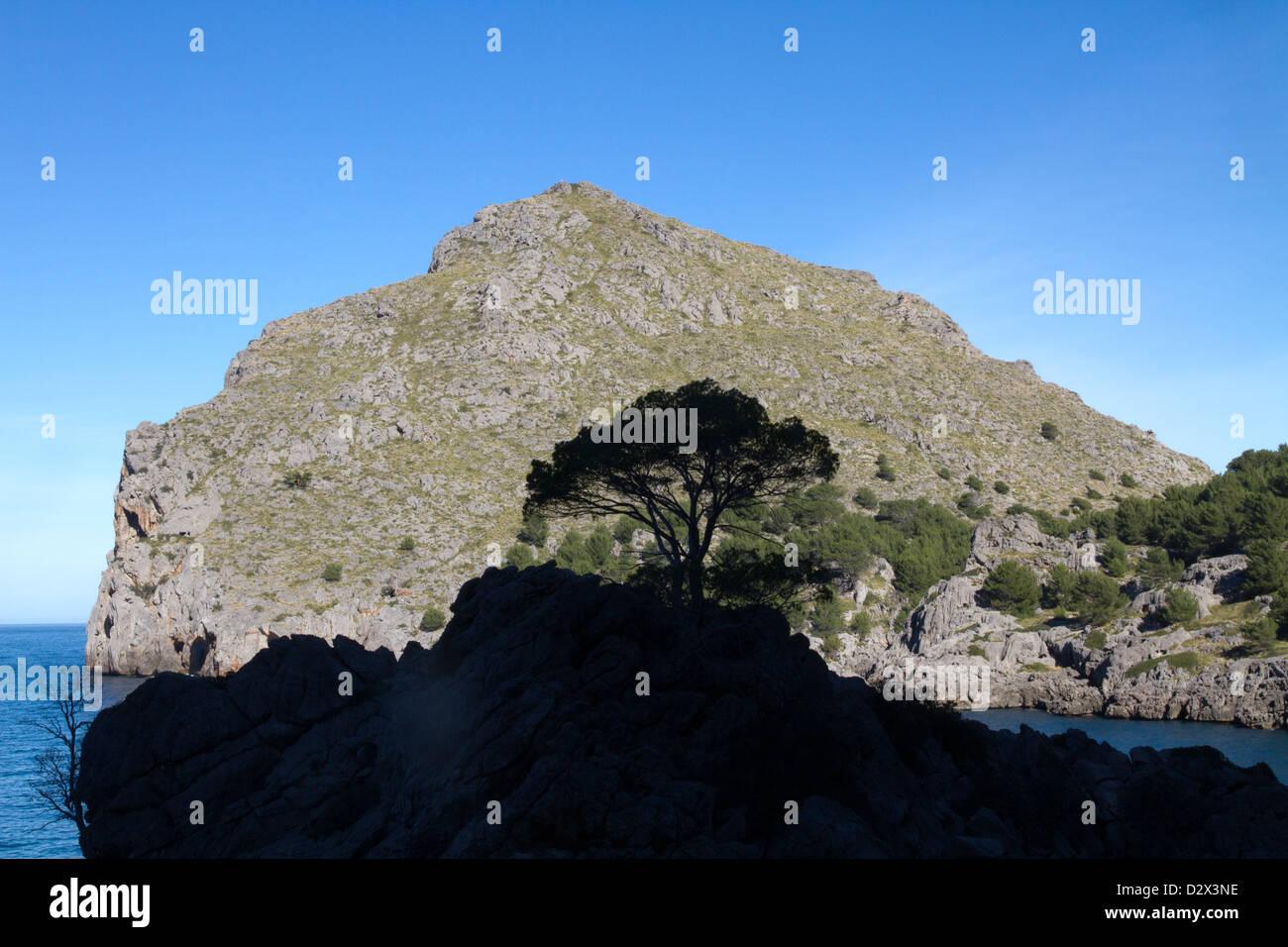 Sa Calobra Serra Tramuntana Mediterranean Mallorca Balearic Spain - Stock Image