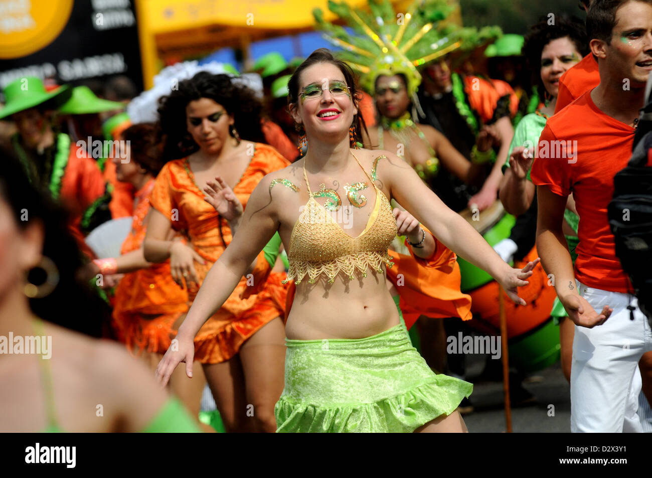 Berlin, Germany, dancer at the Carnival of Cultures 2010 - Stock Image