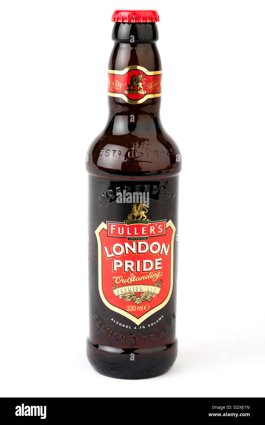 Bottle of Fuller's London Pride premium ale, UK - Stock Image