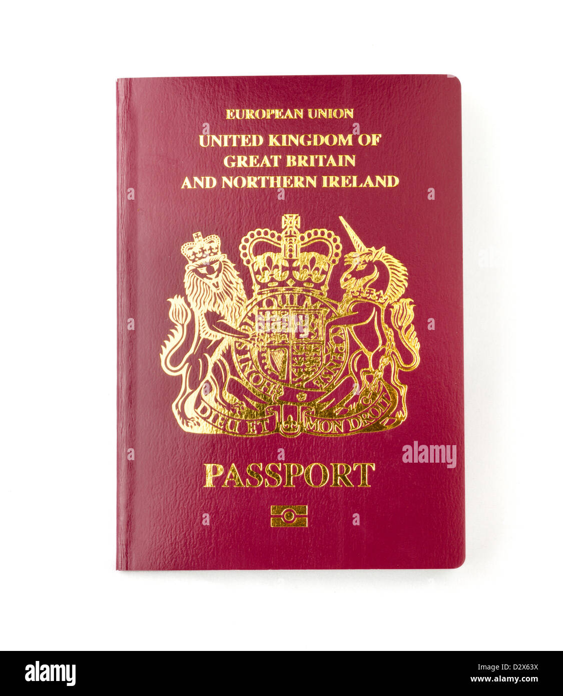 A 2013 biometric European Union passport for the United Kingdom - Stock Image