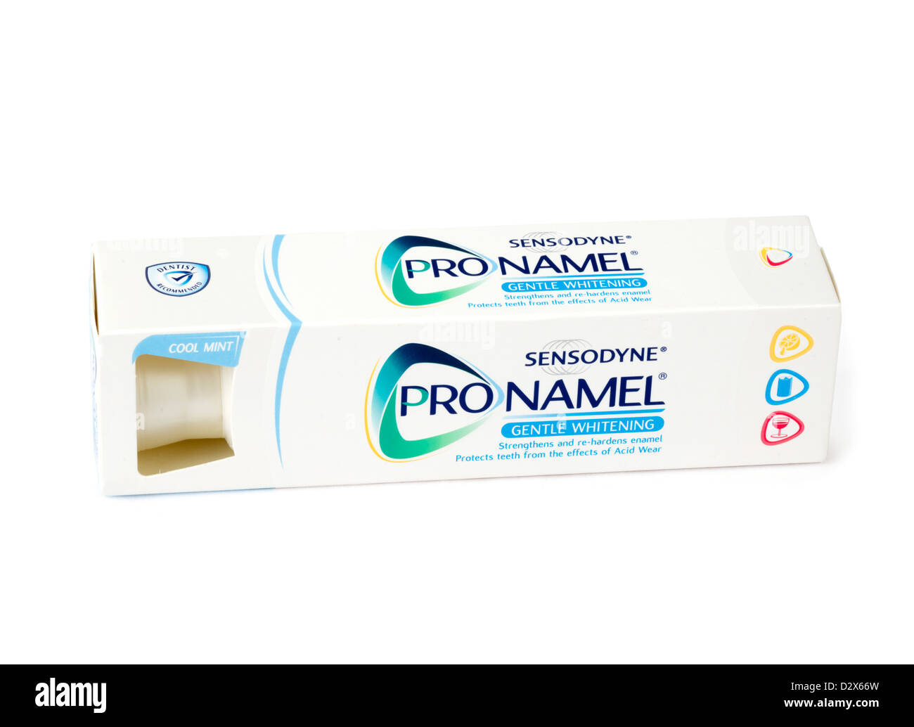 Tube of Sensodyne ProNamel gentle whitening toothpaste - Stock Image
