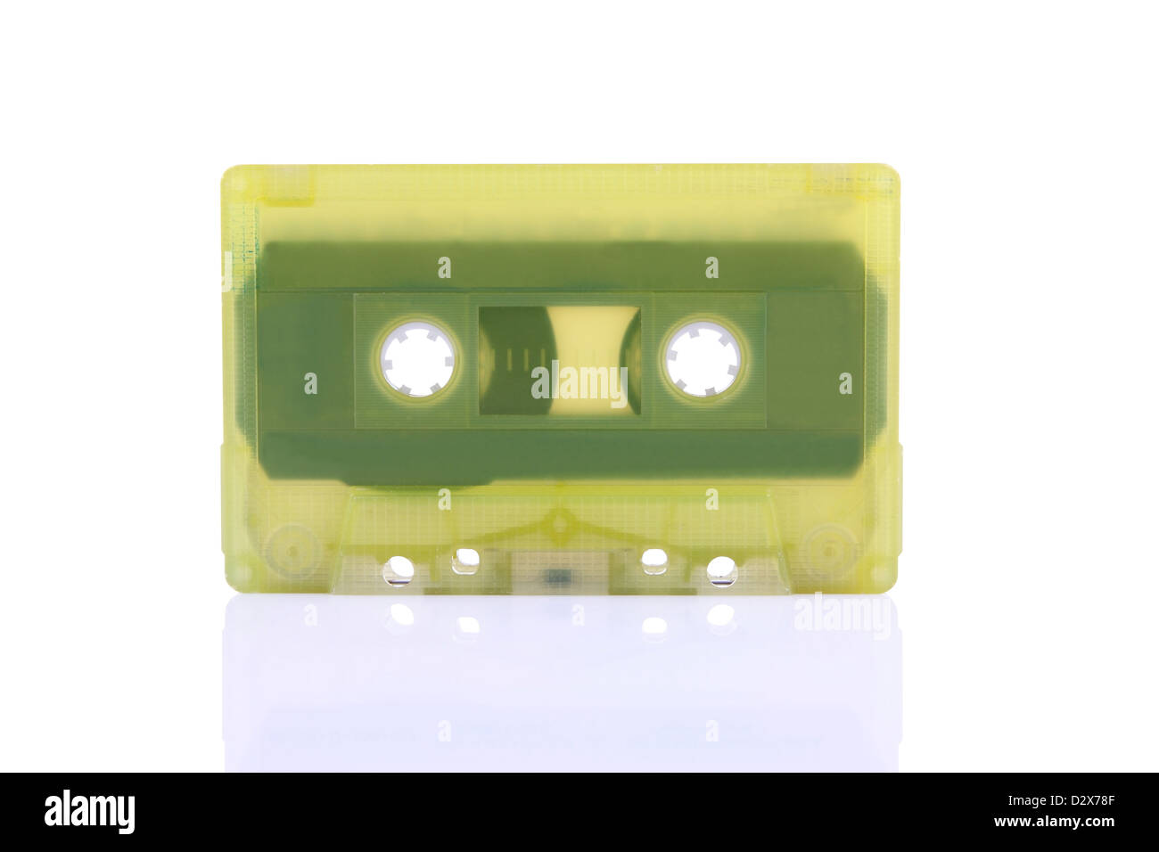 Compact Cassette isolated on white. Including clipping path. - Stock Image
