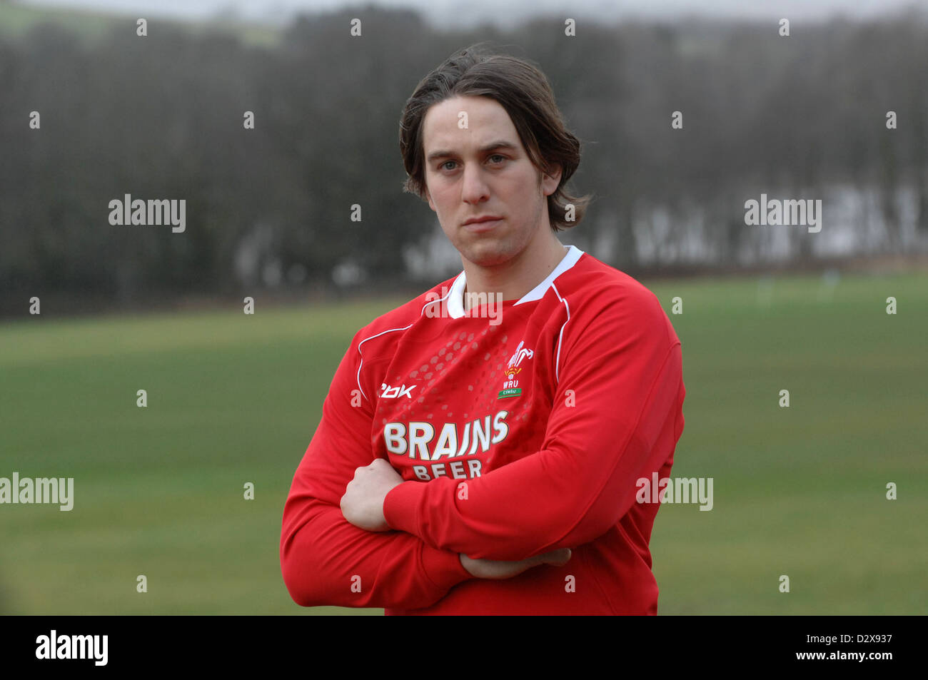 Ryan Jones, named as Captain for Wales' 2008 Six Nations campaign. - Stock Image